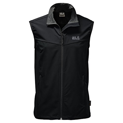 Jack Wolfskin Herren Activate Vest Men Weste, Black, XL