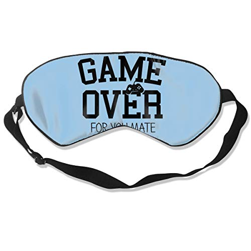 Masken, Masken für Erwachsene, Face Mask, Fashion Sleep Mask Game Over for You Mate Eye Cover Blackout Eye Masks,Breathable Blindfold Soft Blindfold for Travel - Nap - Shift Work - ()