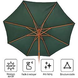 Yongtaifeng Parasol Déporté Parasol Rectangulaire Inclinable en Métal, Diamètre 2.7m pour Jaridn Balcon Piscine Plage, 4 Couleurs (Vert)
