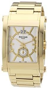Rochas Herren-Armbanduhr XL Rochas De Luxe Men`s Collection 2012 Analog Quarz Edelstahl beschichtet