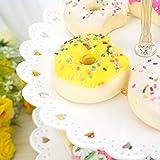 Hetoco Weiß 3-stöckig Gebäck Muffin Obst Kunststoff Kuchenständer Etagere Dessert ständer Display Servierständer Cupcake Ständer für Party, Geburtstag, Hochzeit, Weihnachten -klein - 5