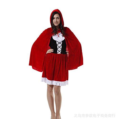 Preisvergleich Produktbild DOXUNGO Erwachsene Halloween Kostüm-Parteikleid Weihnachten Requisiten Rotkäppchen Kostüm