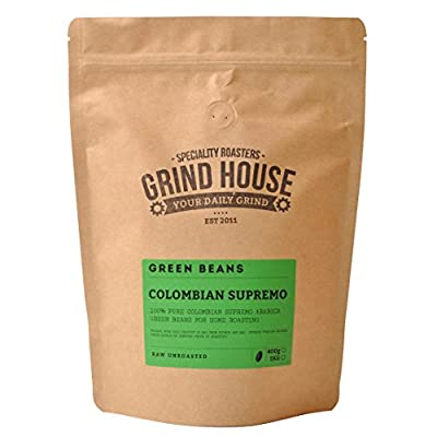 Grind House Colombian Supremo Green Coffee Beans for home roasting 400g from Grind House Speciality Roasters