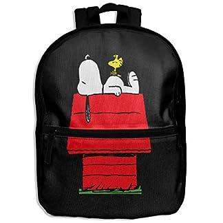 Snoopy mochila para niños para dormir por encima de la casa roja, para la escuela, senderismo, viajes, mochila pequeña para niños y niñas