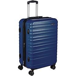 AmazonBasics Valise de voyage à roulettes pivotantes, Bleu marine, 68 cm