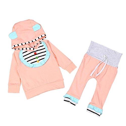 Culater® Neonata appena nata Outfit manica lunga con cappuccio, T-shirt