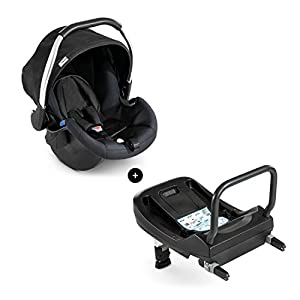 Hauck Comfort Fix Set, Lightweight Group 0 Car Seat with Isofix Base, ECE 44/04 from Birth to 13 kg, Side Impact Protection, Safety Indicators, Travel System, Black   13