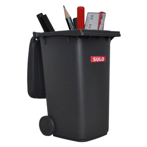 original große Ausführung 240 Liter GRAU Miniatur Behälter Aufbewahrung Tischmülleimer Stiftehalter Büro Spielzeug Sammlerstück ()
