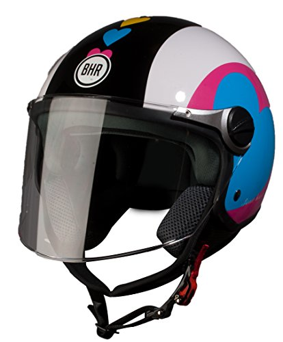 BHR 93782 Demi-Jet Super Love 710 Casco de Moto