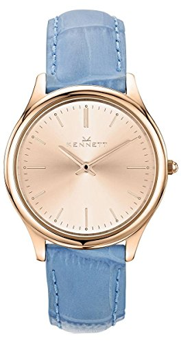 Rose Gold/Sky Blue Kensington Lady Watch by Kennett