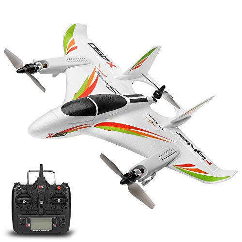Leslaur WLtoys XK X450 2.4G 6CH 3D / 6G RC Hubschrauber Vertikalstart LED RC Segelflugzeug Starrflügel RC Flugzeug Flugzeug RTF