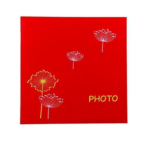 Fengrong album dell'album semplice tasca ricamata in pu grande capacità album rosso album creativo for matrimoni regalo d'affari articoli for la casa e ufficio