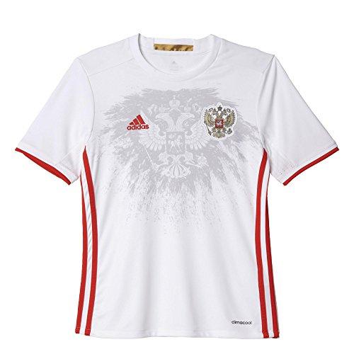 adidas Kinder UEFA EURO 2016 Russland Auswärtstrikot Replica, weiß/rot, 152, AA0388