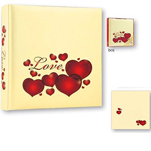 Album Fotografico San Valentino con scritta Love 30 fogli 24 x 24 Portafoto idea regalo