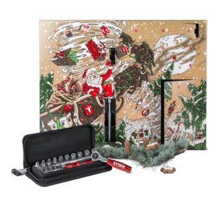 STIER Adventskalender 2018, Werkzeug Weihnachtskalender, 24-teiliges Werkzeugset