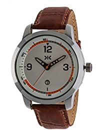 Killer Analogue Silver Dial Men's Watch - KLM149B