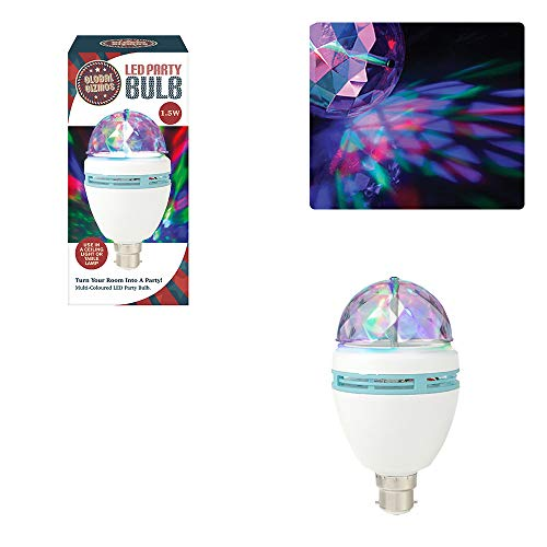 Global Gizmos 45570 LED-Party Leuchtmittel, B22 Bajonettsockel, 1,5  W
