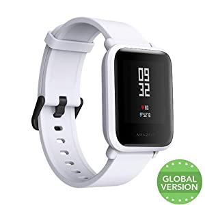 Original XIAOMI huami amazfit Bip Smart Watch, hasta 45 Días funcionamiento, IP68/GPS/PPG/barómetro, EU/International Versión (Blanco/Gris)
