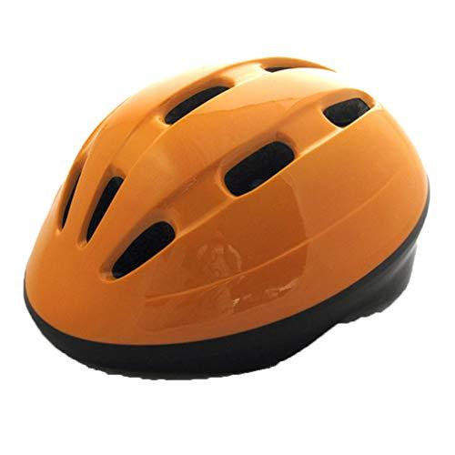 LHY SPORTS SERLES Kinder Fahrradhelm Einfarbig Roller Inline Sport-Schutzausrüstung Helm,Kinder Skateboard Skates Helm,orange