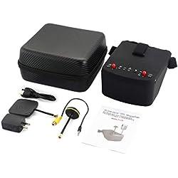 Monllack LS-800D 5.8G 40CH 5in FPV Gafas Auriculares Receptor Monitor con HD DVR de Doble Antena Auto-búsqueda de RC Que compite con Aviones no tripulados