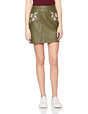 New Look Damen Rock Embroidered Pu