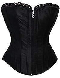Valin Delicate Jacquard fermeture éclair Front sans bretelles Bustiers et corsets,noir