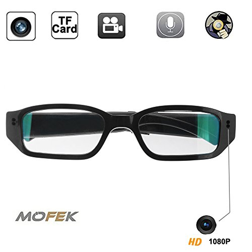 Mofek 8GB 1920x1080P HD Hidden Camera Sport Video Spy Glasses Mini Eyewear DV Camcorder