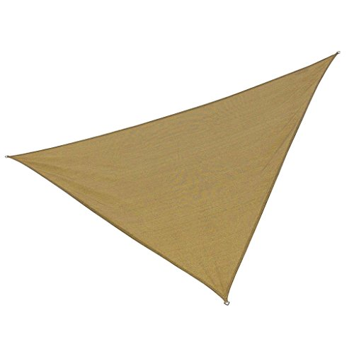 Galleria fotografica MagiDeal Triangolo UV Blocco Sun Shade Vela Piscina Deck Patio Prato Vela parasola Accesorio Esterna - Giallo, 3m