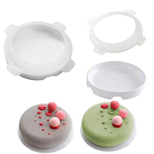 FTFSY 2 PCS Cute Cake Molds Flat Top Round Shaped Small Ball Silicone Cake Molds for Mousse Dessert Bakewar Bakeware Dropshiping