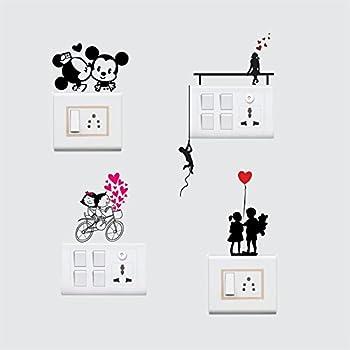 Buy Sticker Yard Love Couple Wall Decal Switchboard ...