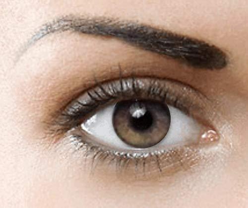 PHANTASY Eyes® HOLLYWOOD Farbige Kontaktlinsen natürliche (HONEY) ohne Stärke,1 paar, (2 Stücke) Jahreslinsen + gratis Kontaktlinsenbehälter