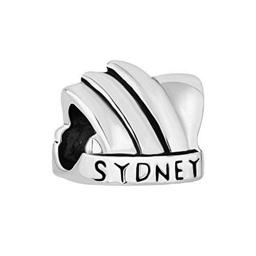 Sug Jasmin Charm-Anhänger, Design: Opernhaus in Sydney, Australien, für Armband