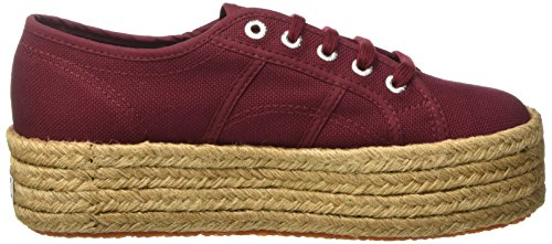 Superga 2790-cotropew, Sneakers basses femme Rosso (Dk Bordeaux)