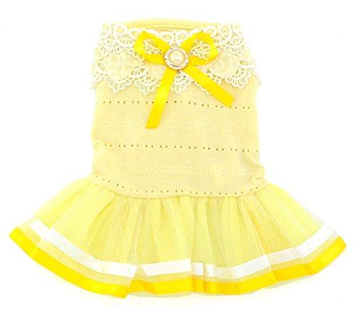 Pet Kleine Fell-Kostüm Baumwolle Petal Kragen Prinzessin Kleid Tutu Band, (Boy Band Kostüm)