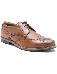 Ruban Rouge - Chaussures À Lacets En Cuir Pour Tan Brun Homme, Brun, Taille 42.5