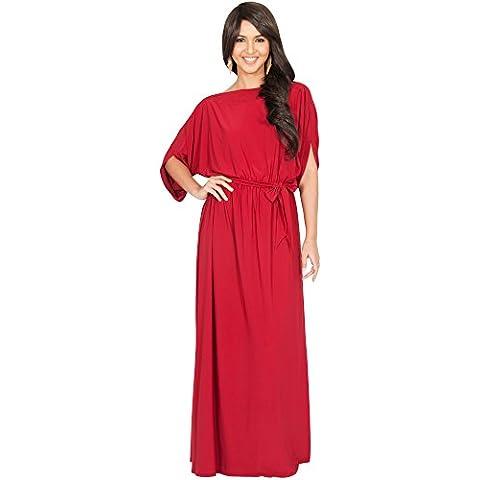 KOH KOH® La Mujer Vestido Maxi Largo Y casual con mangas media Vestido Maxi