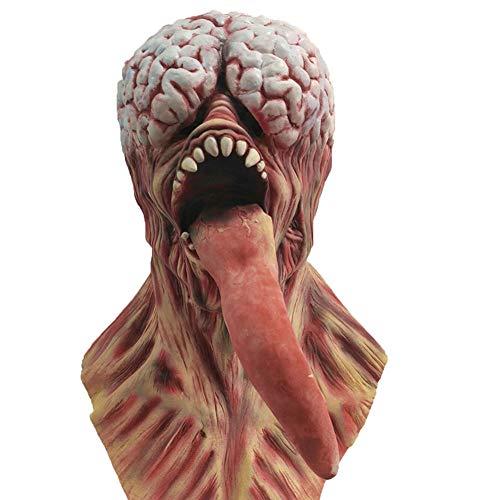 Edelehu Biochemische Variation Halloween Maske Scary Gruselige Horror Cosplay Kostüm Bandana Latex Scary Kopf Zombie ()