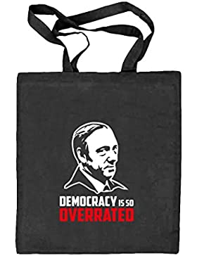 HOC - Democracy Is So Overrated, Natur Stoffbeutel Jute Tasche (ONE SIZE)