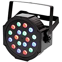 LED Par Light 18 LED Disco Light con activación de música, ejecución automática y modo