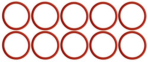 10 x à joint torique pour Jura Groupe Café, 36,09 x 3,53 mm, rouge, Silicone