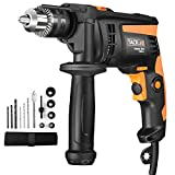 Hammer Drill, Tacklife Corded Drill, Variable Speed, Hammer & Drill 2 Modes in