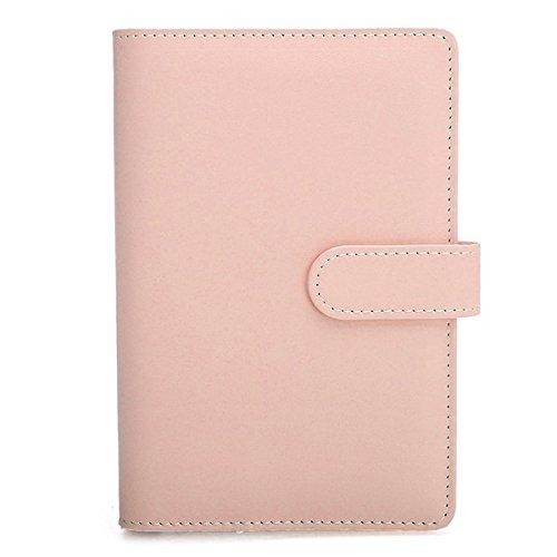 Tutoy A6 Kunstleder Lose Blatt Notizbuch Wöchentlich Monatlich Planer Tagebuch Abdeckung -Pink