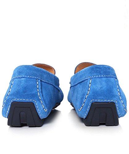 Joss Hommes Suede chaussures de conduite Cobalt Cobalt