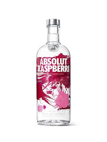 Absolut Raspberri, Absolut Vodka mit Himbeer Aroma, Schwedischer Klassiker, ideal für Cocktails und Longdrinks, 1 x 1 L