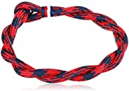Tommy Hilfiger Men's Jewelry Nylon Bracelet, Color: Red and Blue (Model: 2790