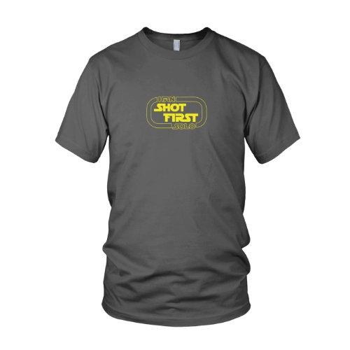 Schlägt Imperium Kostüm Zurück Vader Darth - Han Shot First - Herren T-Shirt, Größe: XL, Farbe: grau