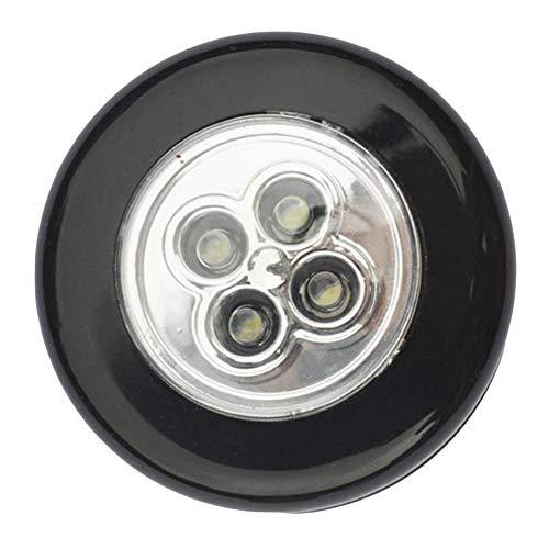 Draulic Rundes LED-Touch-Licht, Pat-Licht, Schranklicht, Schranklicht, Nachtlicht, Hochwertige Nachttischlampe, Nachtlicht Für Kinder, Schlaflicht Ohne Batterie - Schwarz -