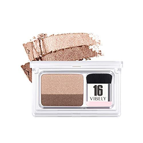 wyxhkj Ombre à paupières Maquillage fard à paupières palette de fards à paupières cosmétique fard à paupières 2 couleurs Disque d'ombre à paupières dégradé bicolore (B)