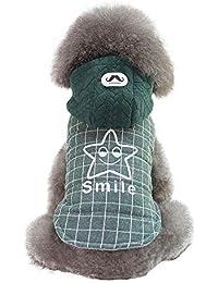Ropa para Mascotas, Gusspower Chaqueta de Algodon Ropa de Abrigo Invierno Sudadera con Capucha cálido cómodo con Estampado de Estrellas para Mascotas Gato Perro