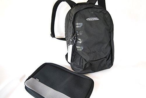 Preisvergleich Produktbild Notebook-Rucksack, Vector bis 17 Zoll Ferrino Schwarz 40 Liter mit zusätzlicher Laptoptasche